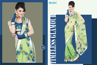 Supplier and Manufacturer of Designer Fancy Sarees Collection,  Long Dresses and Indian Sarees offered helix enterprise, lehenga style sarees,