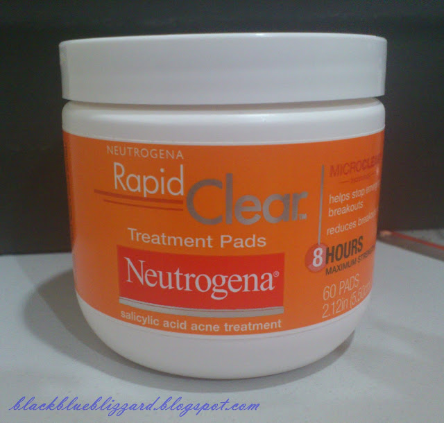 neutrogena, acne treament, acne pad, rapid clear treatment pads