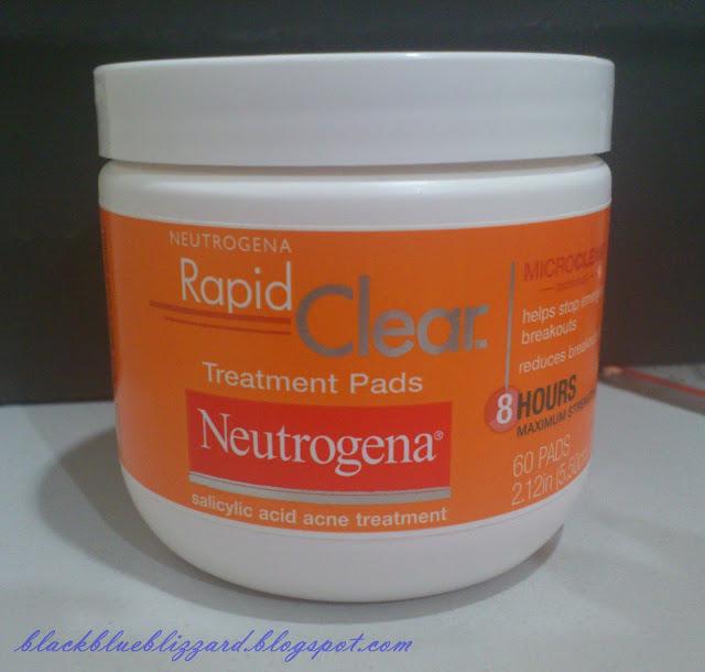 neutrogena, acne treament, acne pad, rapid clear treatment pads