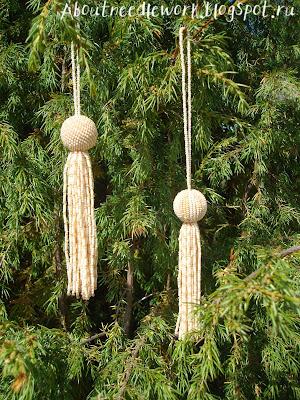 Плетение бисером шариков