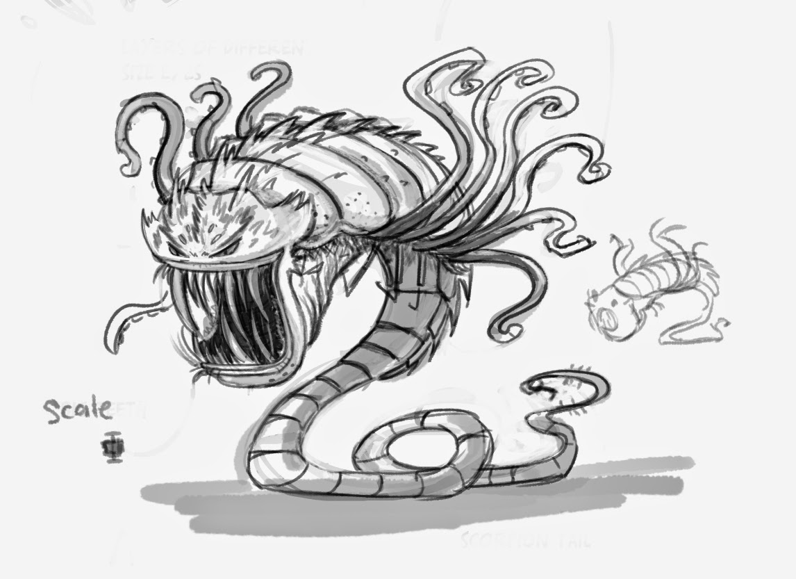 Galactic Hot Dogs: Early Ultimate Evil monster sketch