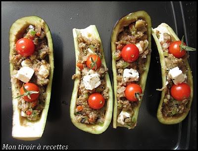aubergines farcies végétariennes