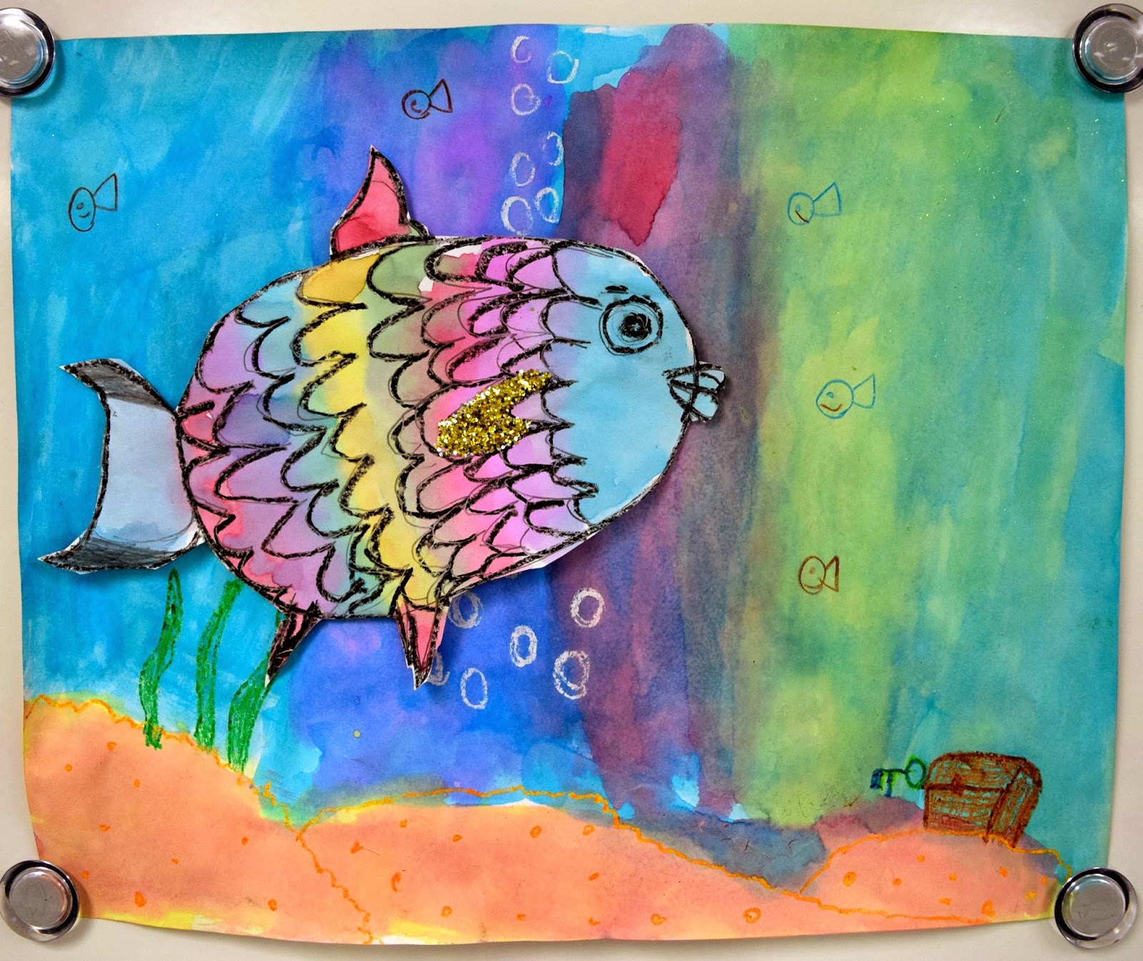 The rainbow fish 2 0 1st art with mrs nguyen for The rainbow fish