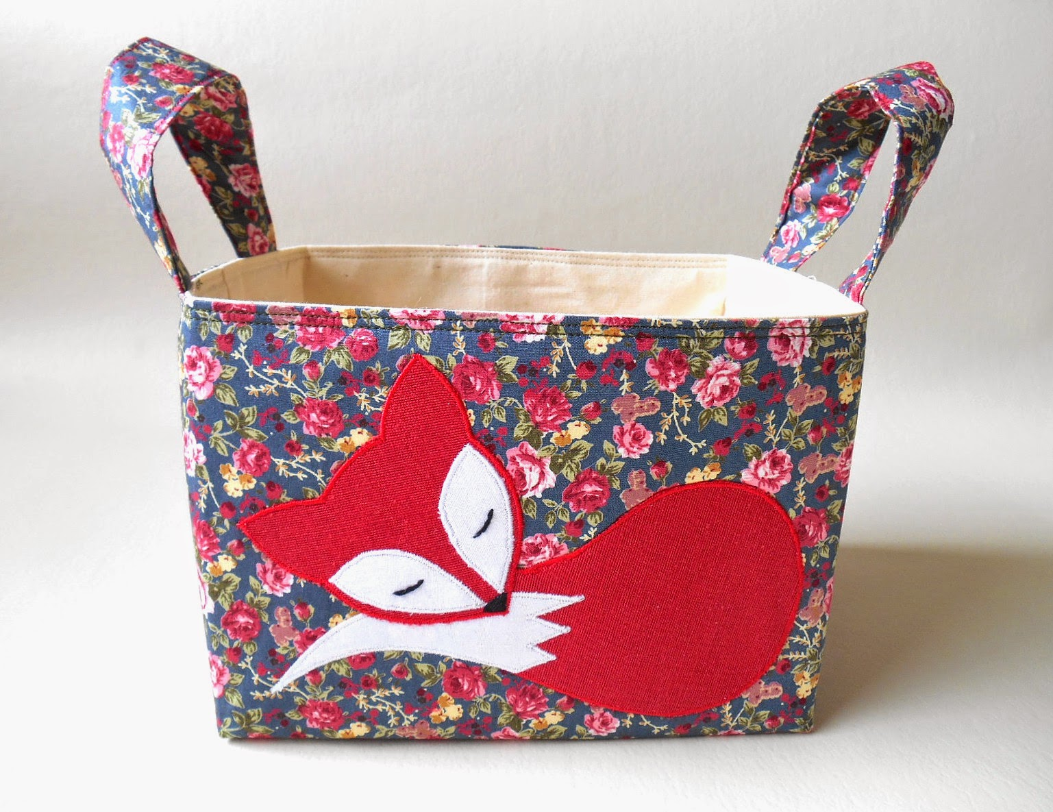 fox applique diaper caddy