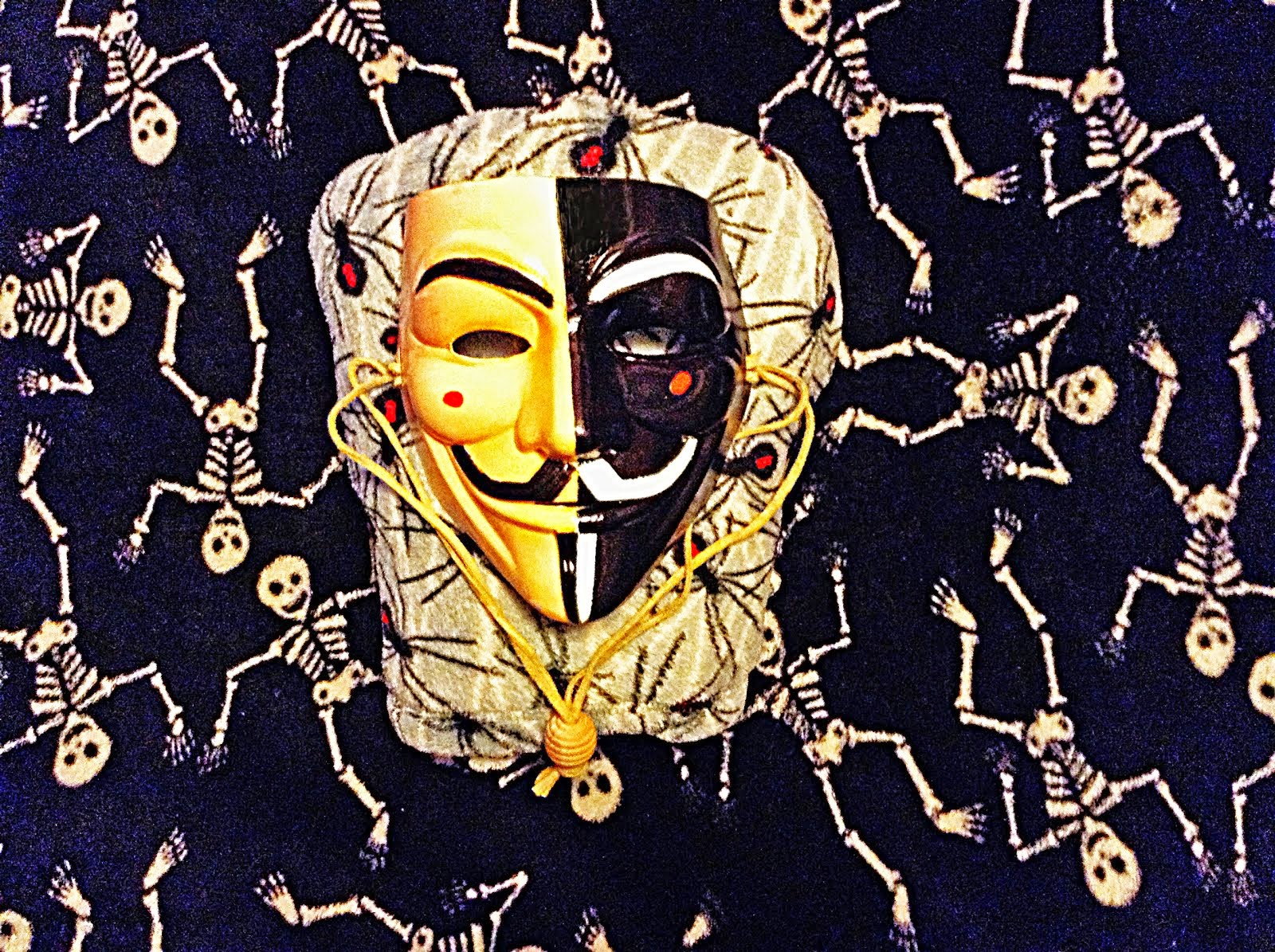 Guy Fawkes Mask Hand Painted by Brian Thomas Armstrong