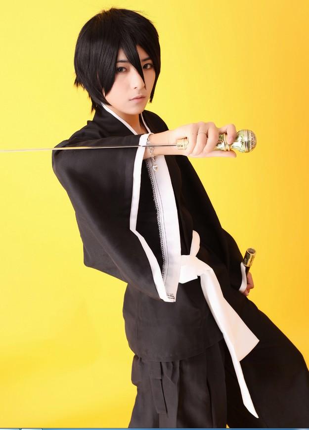 New Anime  Shinigami Bleach Ichigo Rukia Renji Kimono Kendo Cosplay Costume
