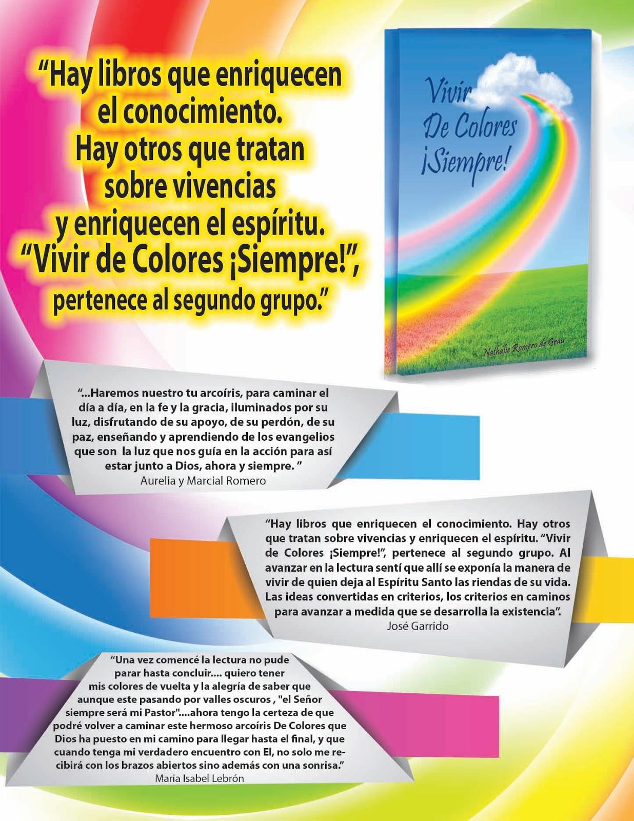 VIDA DE GRACIA: Libros: Vivir de Colores! y Camino al Cielo
