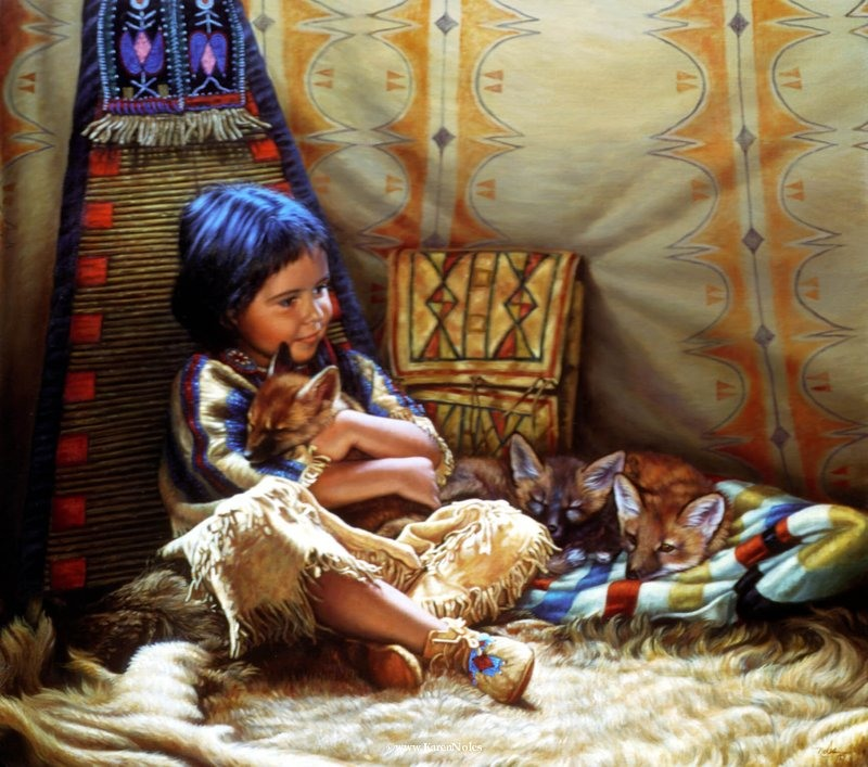 Mi cofre magico - Página 2 Karen+Noles+1947+-+Native+American+paintings+-+Tutt'Art@+(58)