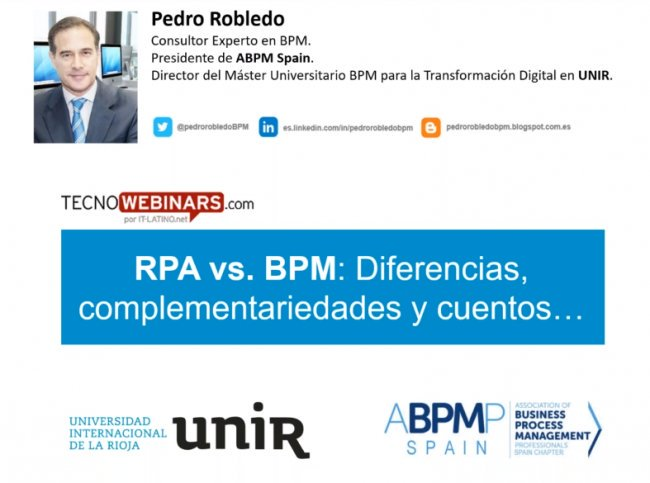 VIDEO: RPA vs. BPM: Diferencias, complementariedades y cuentos