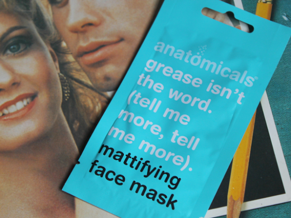 Anatomicals Grease isn't the word mattifying face mask.