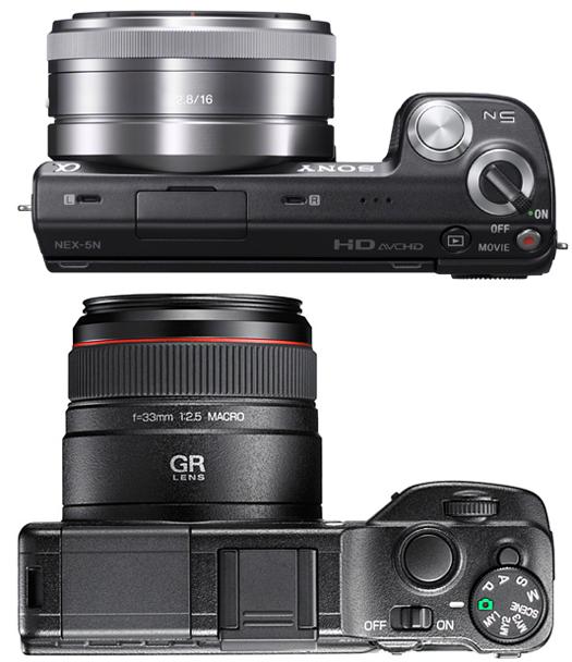 sony nex-5n ricoh gxr camera