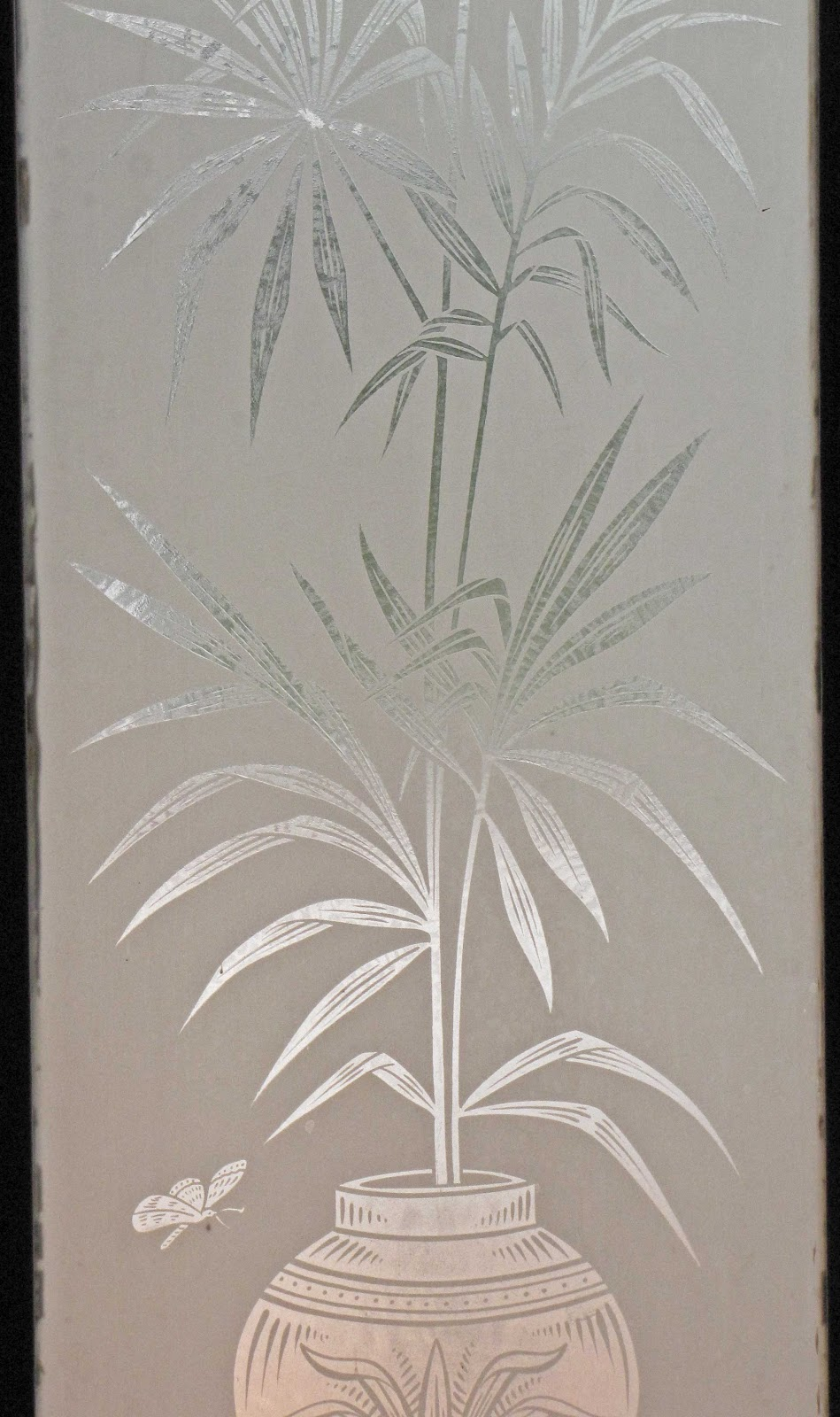 Verrier etched glass the scottish traders may have brought back the japanese symbolism of strength and endurance for the bamboo then of course the fondness of a glass of claret buycottarizona Image collections