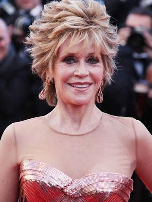 Jane Fonda Dangling Diamond Earrings