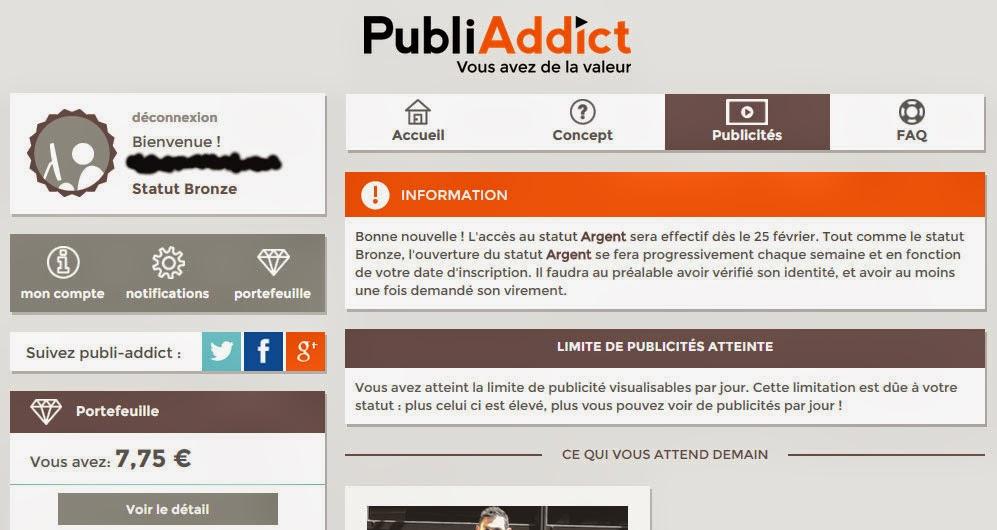 Publi Addict - Gagnez de l'argent en regardant des publicités