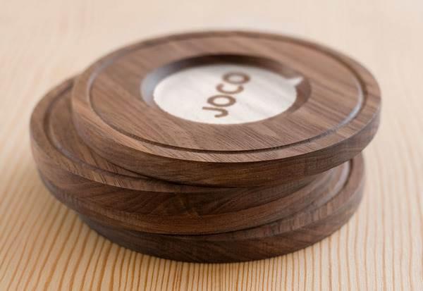 alas gelas kayu