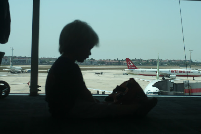 Anton at Ataturk airport.