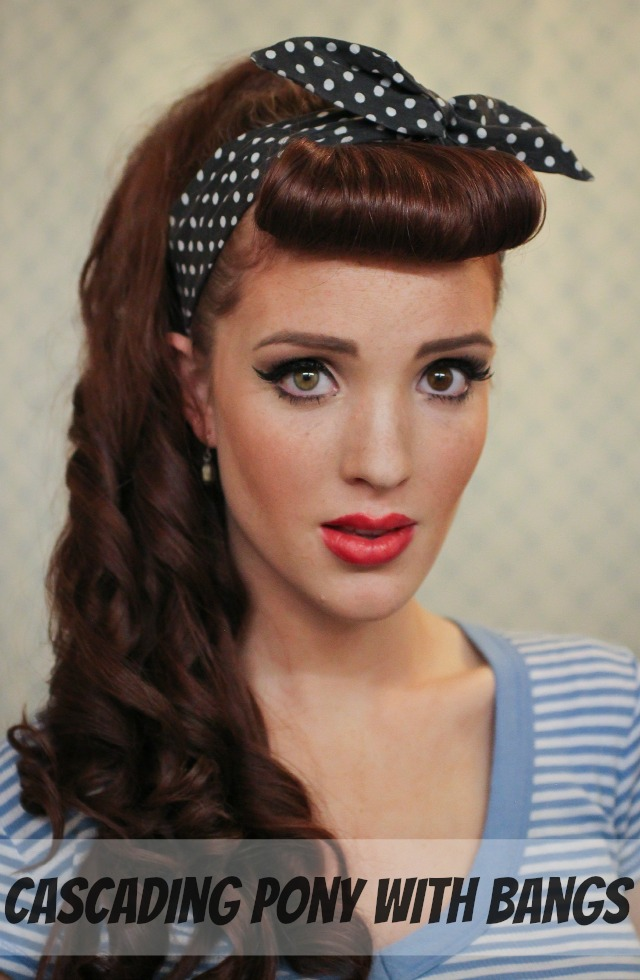 The Freckled Fox Modern Pin Up Week 1 Cascading Pony With Bangs