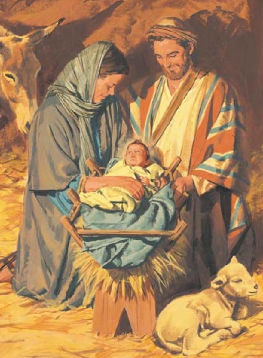Lds nativity clipart away in a manger flip chart