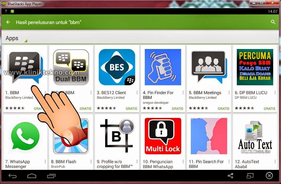 Cara Terbaru Instal Aplikasi BBM Android Di PC Atau Komputer