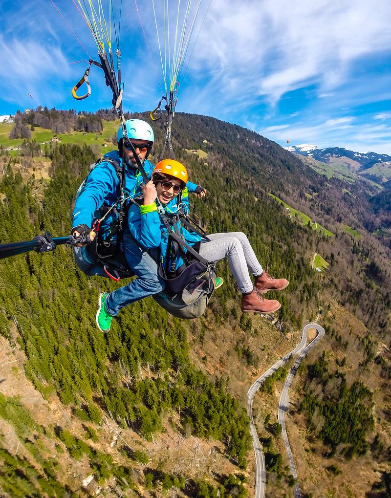Paragliding in interlaken switzerland image