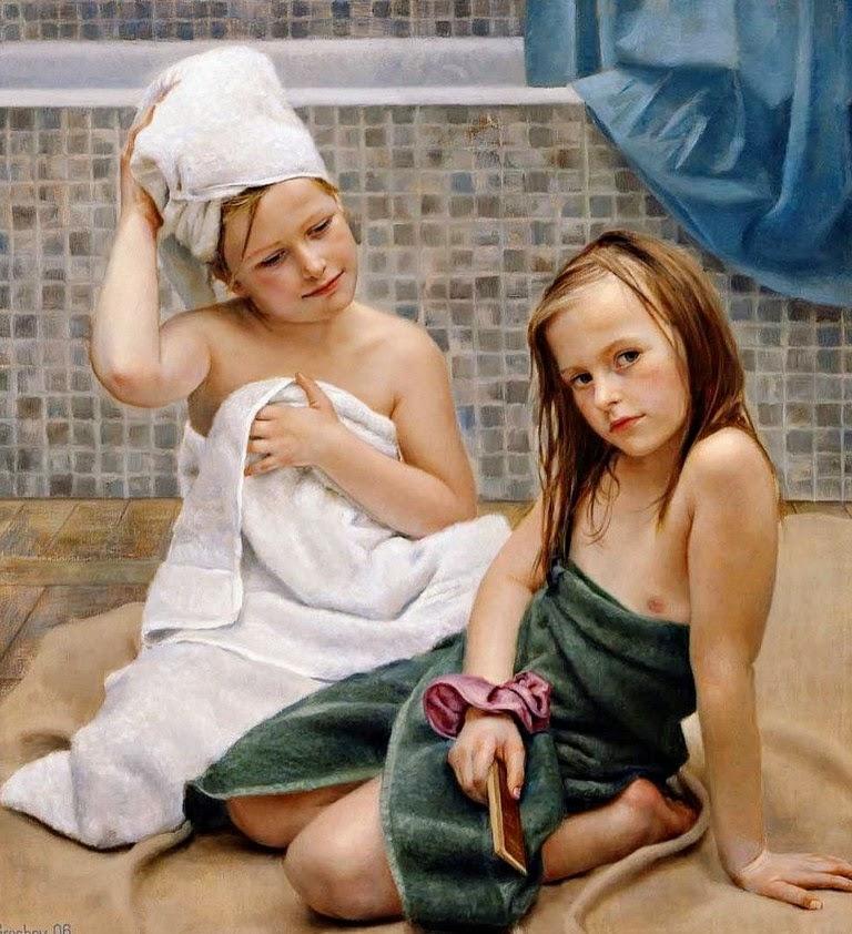 niñas-pintadas-al-oleo