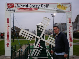 Minigolfer Richard Gottfried at the 2007 World Crazy Golf Championships in Hastings