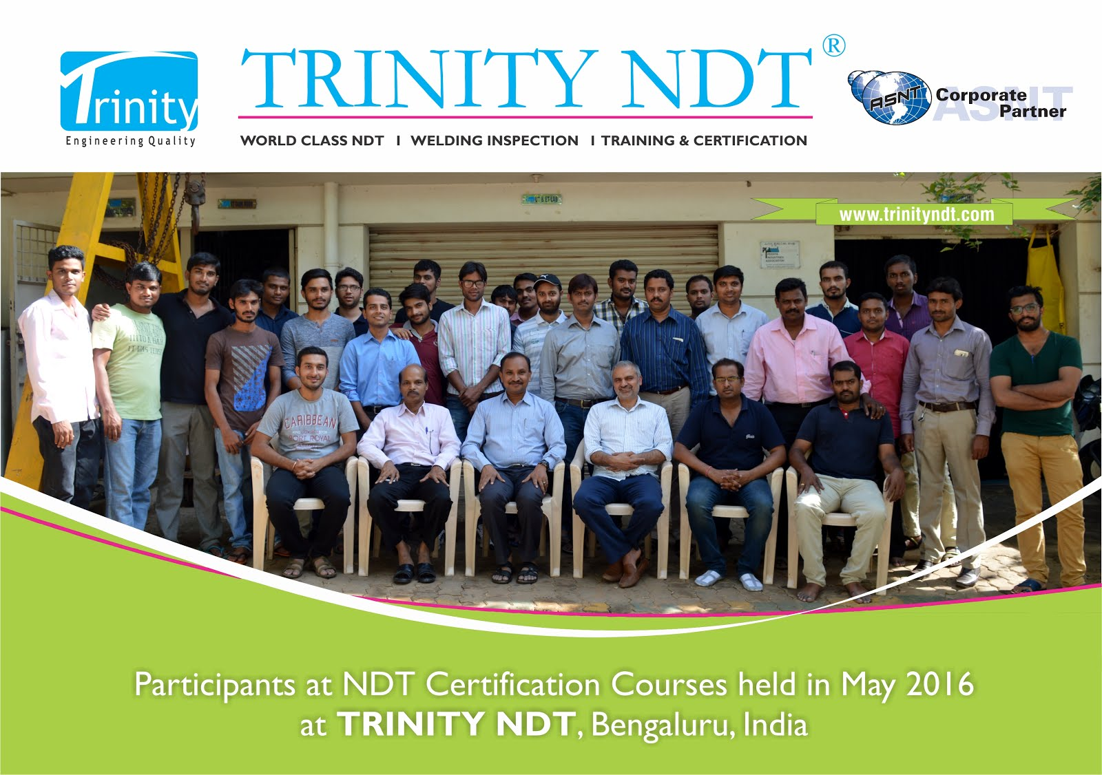 May 2016 Participants at Trinity NDT Training Courses
