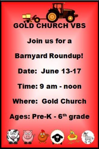 6-13-17 Gold Church VBS