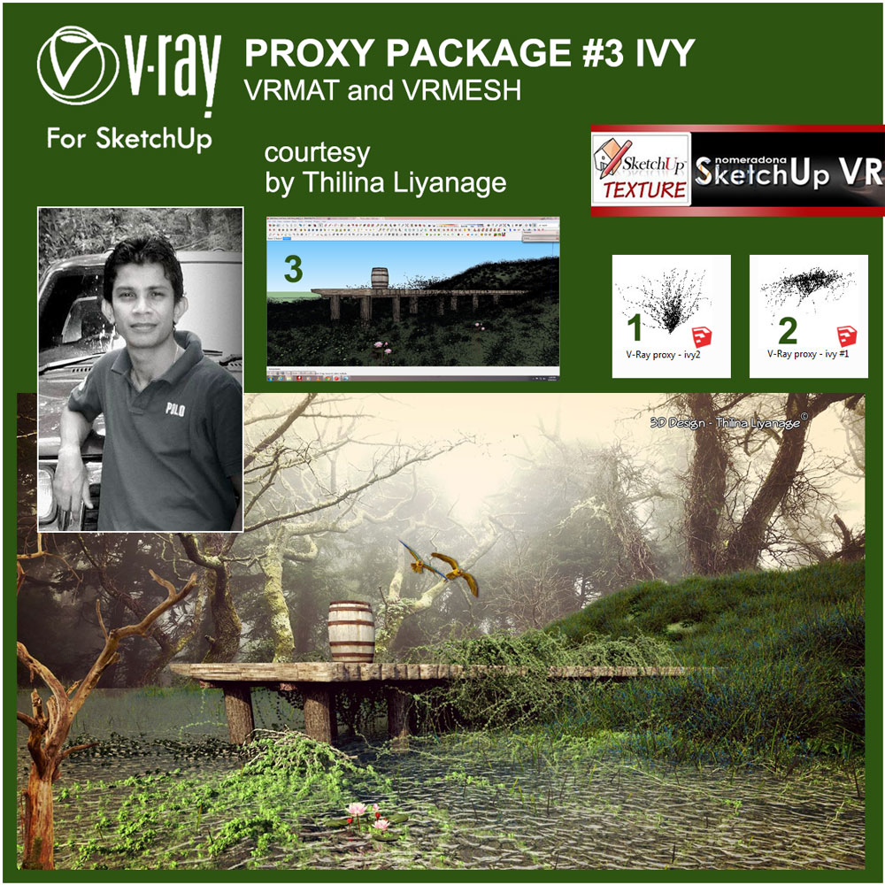 ivy proxy vray for sketchup materials by Thilina Liyanage