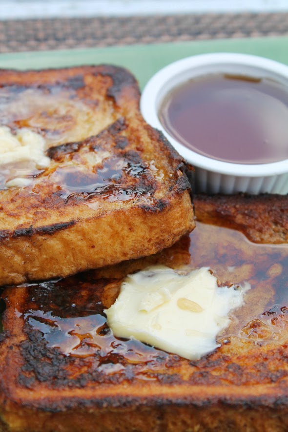 French Toast - 1 loaf Texas Toast, whole eggs, half-and-half, sugar, ground cinnamon, and vanilla extract