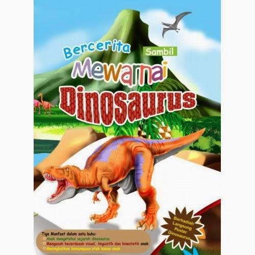 Bercerita Sambil Mewarnai Dinosaurus