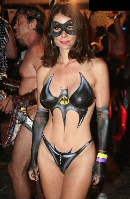 body paint girl sexy art pictorial batman