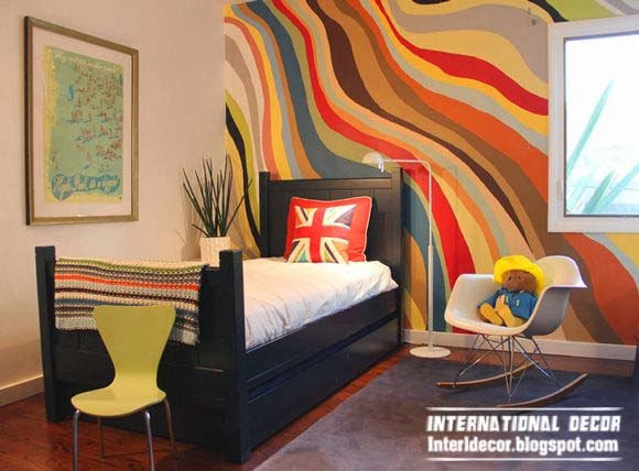 How to paint stripes on wall,wavy striped walls, stripe painting