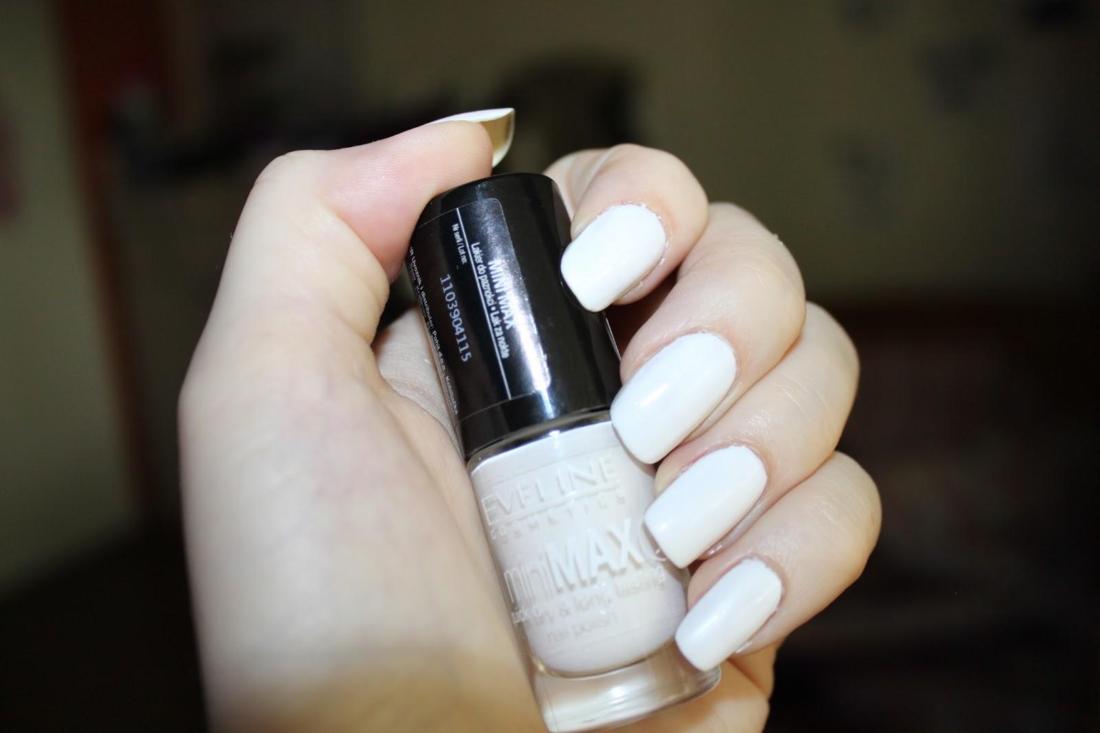 biały lakier, eveline 253, swatche
