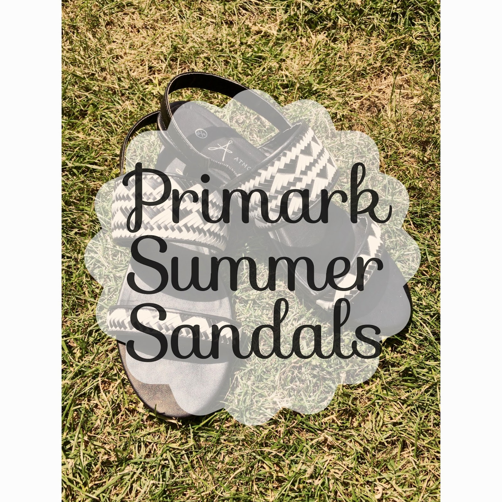 Primark Monocrome Summer Sandals Review 1