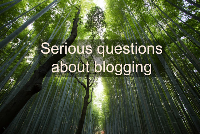 Questions about being a blogger and blogging