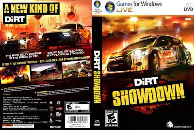 Jogo DiRT Showdown PC DVD Capa