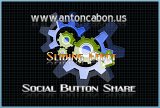 Social Share With Sliding Efect