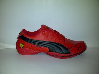 sepatu puma ferrari murah, toko sepatu puma, ferrari merah lis hitam