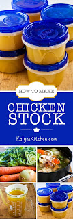 How to Make Chicken Stock found on KalynsKitchen.com