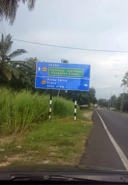 Jambatan Kampung Sawah - Pulau Carey - Telok Panglima Garang.