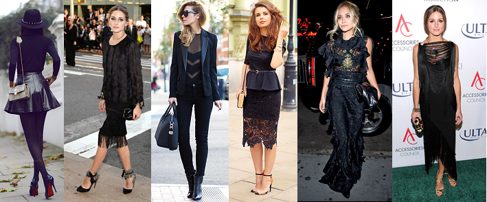 Look preto tendência outono-inverno 2014