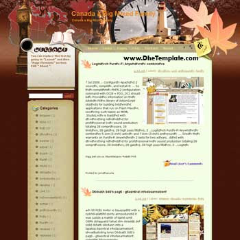 Canada a Big Mixed Family blogger template from wordpress. blogger template for travel blog. free blogspot template