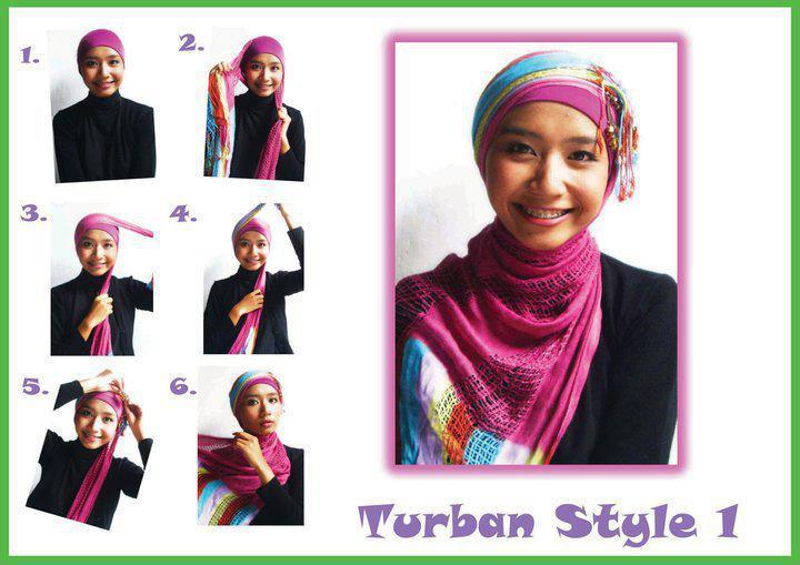 Cara Memakai Jilbab Pesta Praktis 2013