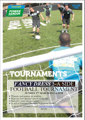 Fancy Dress 5 a side football tournament In aid of extreme Clowning volunteer service