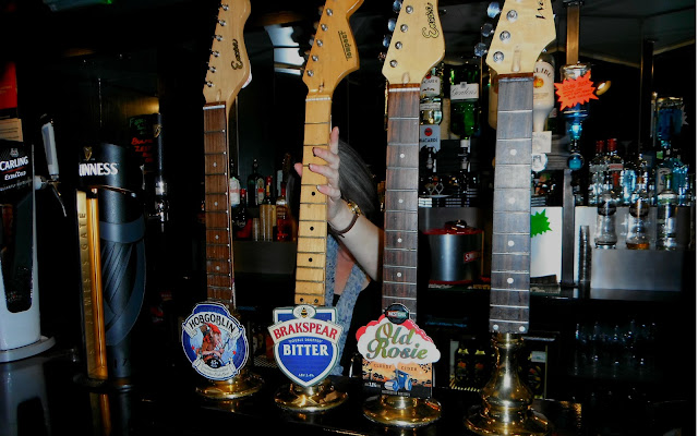 The bar at The Rigger rock pub