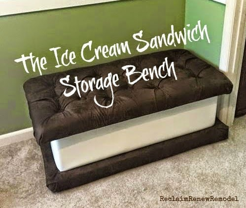 How About This Fantastic Custom Made Ice Cream Sandwich Storage Bench?! My  Cousinu0027s 11 Year Old Son Asked For An Ice Cream Sandwich Bench.