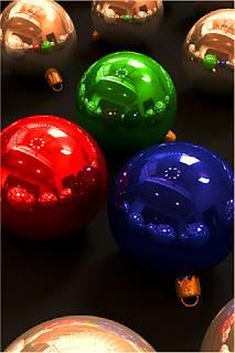Christmas Glass Balls iPhone Wallpapers