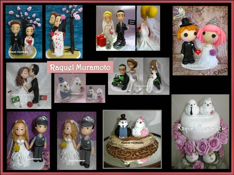 Topos de bolo para casamento, aniversários e datas especiais by Raquel Muramoto Art's -