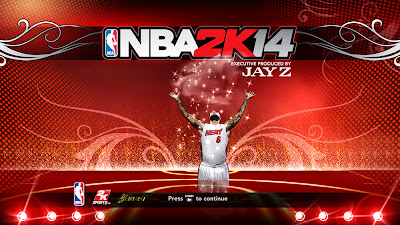 NBA 2K14 LeBron James Cover Screen